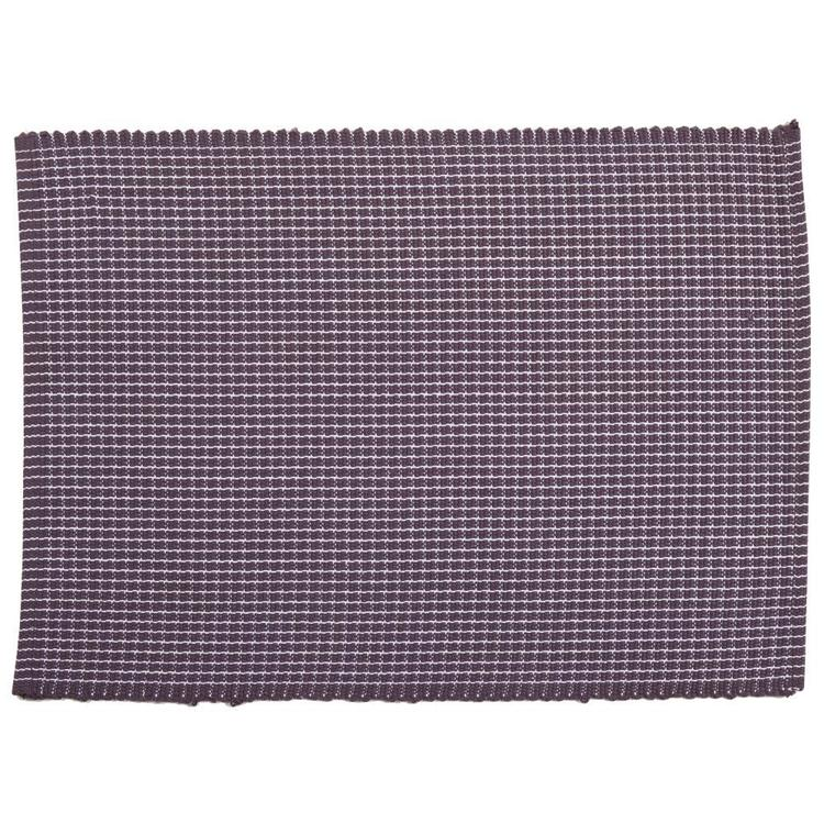 Dine By Ladelle Utopia Ribbed Placemat Charcoal