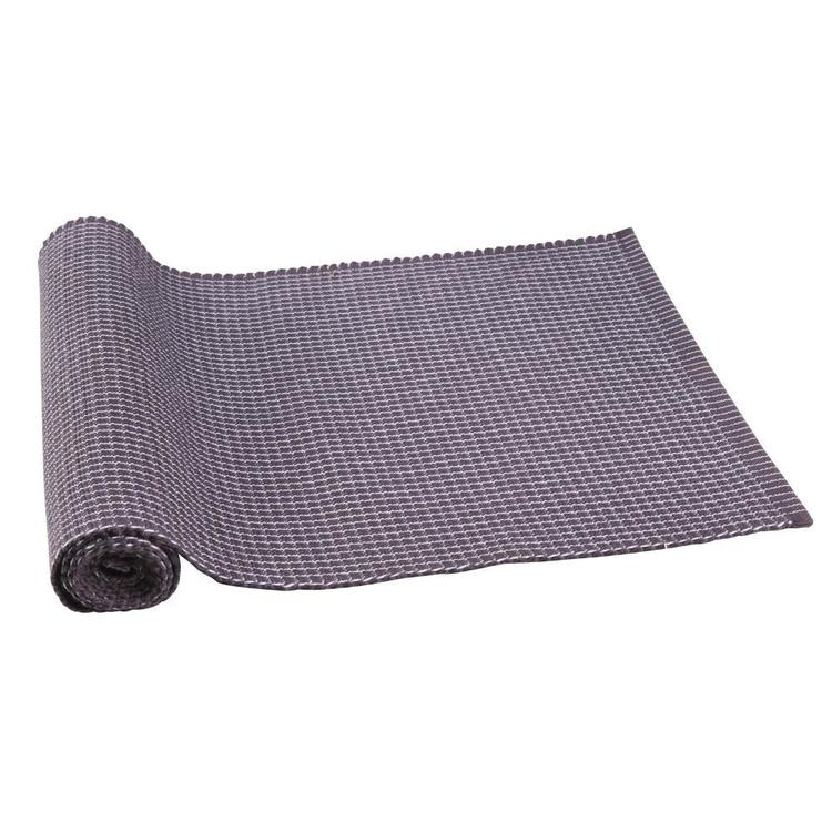 Dine By Ladelle Utopia Ribbed Table Runner Charcoal