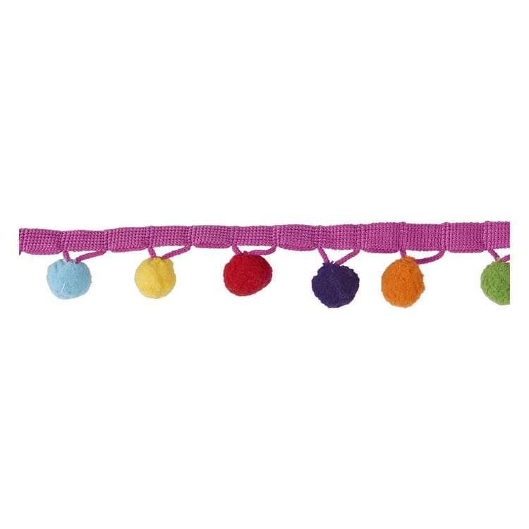 Simplicity Rainbow Pom Fringe