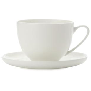 Casa Domani Pearlesque Coupe Cup & Saucer