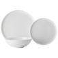 Casa Domani Pearlesque 12 Piece Coupe Dinner Set White