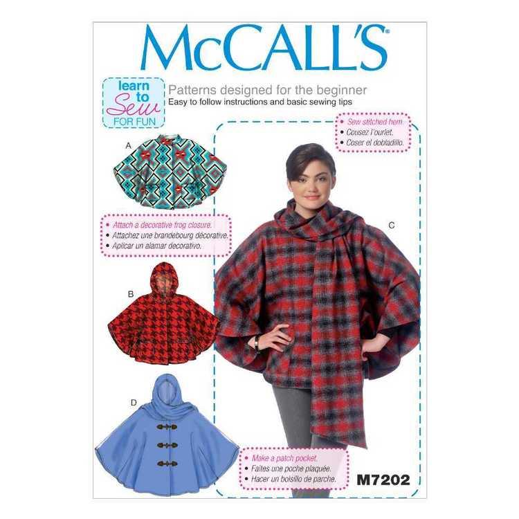 McCall's Pattern M7202 Misses' Ponchos