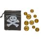 Party Additions Pirate Pouch & Coin Set Black & White