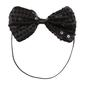 Party Additions Sequin Bow Tie Black