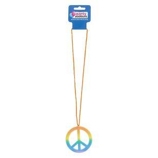 Party Additions Peace Sign Necklace