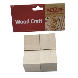 Arbee Wood Craft Cubes