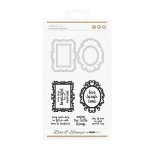 Kaisercraft Frames Quotes Decorative Dies & Stamps