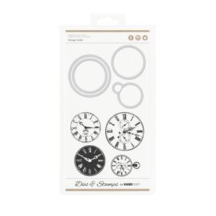 Kaisercraft Vint Clocks Decorative Dies & Stamps