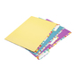 Hexagon Manilla Folders With Tabs Multicoloured