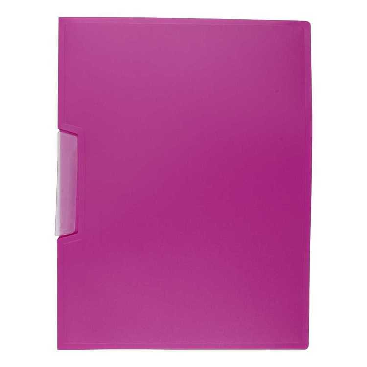 OfficeMax A4 Clip File Pink A4
