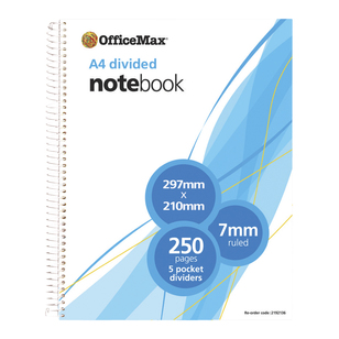 OfficeMax A4 Divided Book