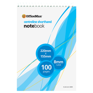 OfficeMax Centreline Shorthand Notebook
