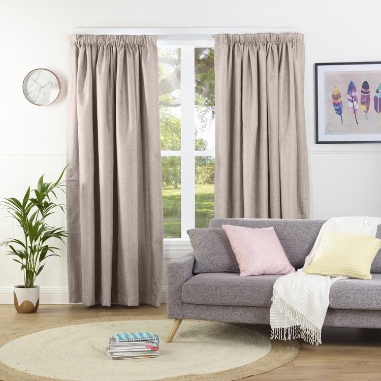 Gummerson Contempo Pencil Pleat Curtain Linen