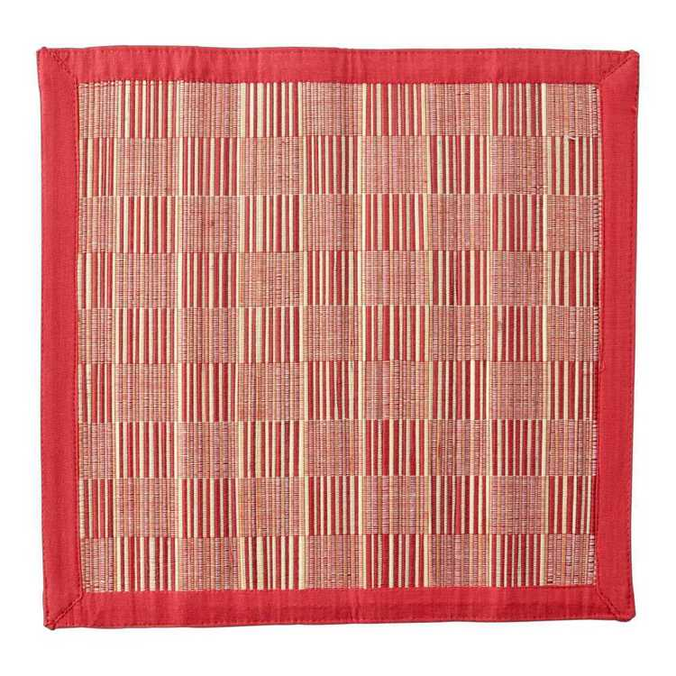 In-Habit Baku Square Placemat Red