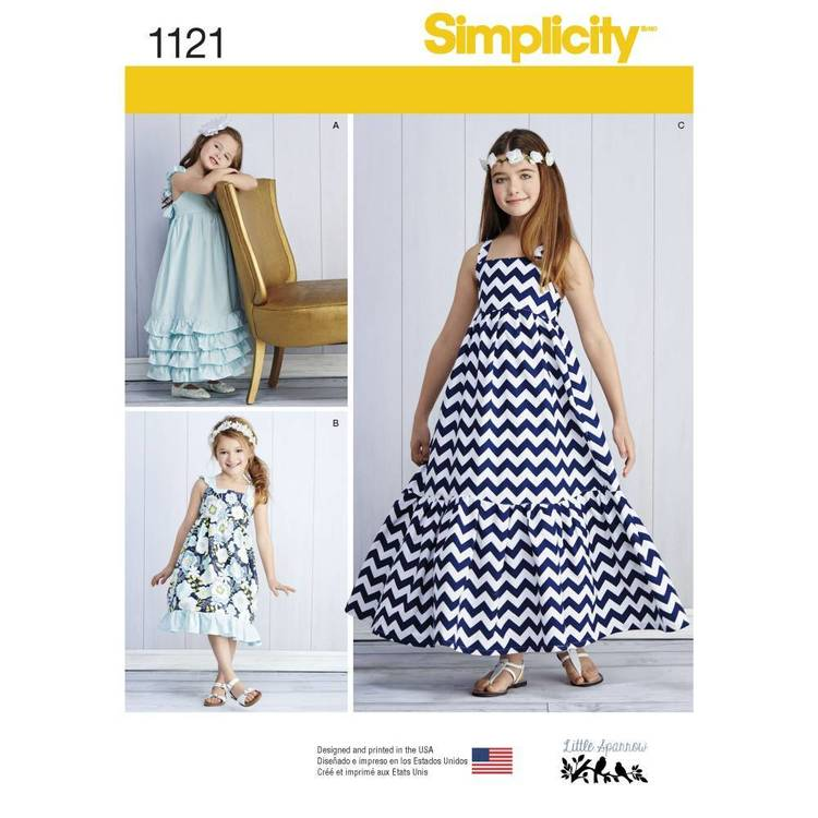 Simplicity Pattern 1121 Child's & Girls' Pullover Dresses