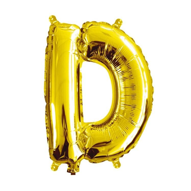 Artwrap Miniloon Letter D Foil Balloon
