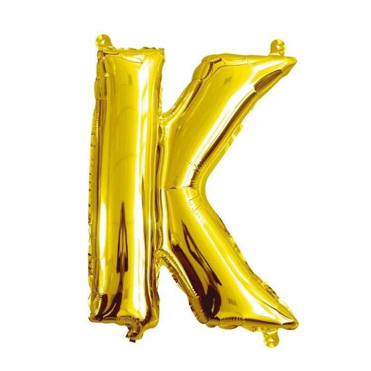 Artwrap Miniloon Letter K Foil Balloon