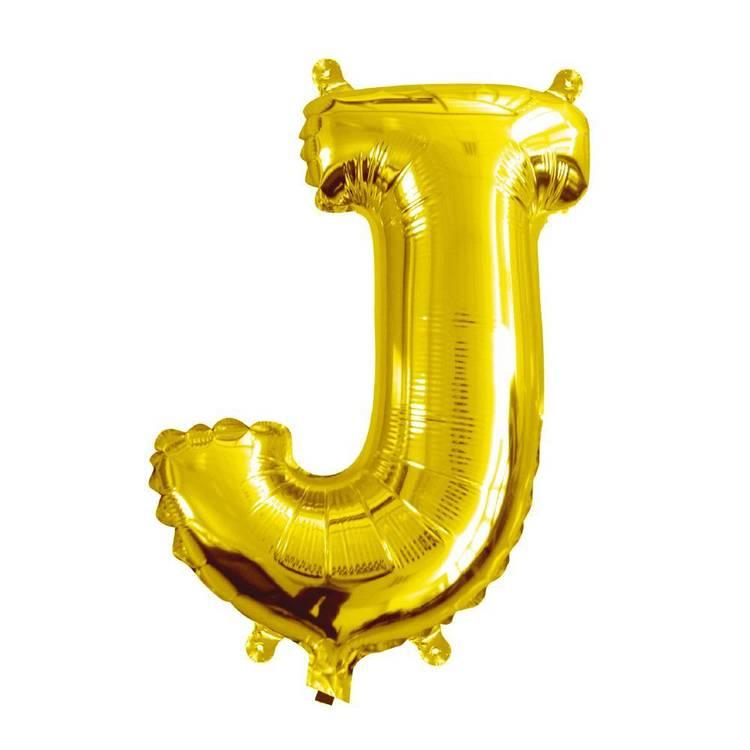 Artwrap Miniloon Letter J Foil Balloon