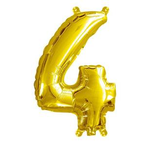 Artwrap Miniloon Number 4 Foil Balloon