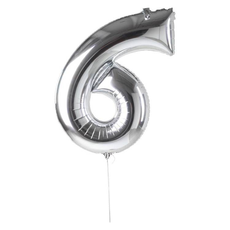 Artwrap Miniloon Number 6 Foil Balloon