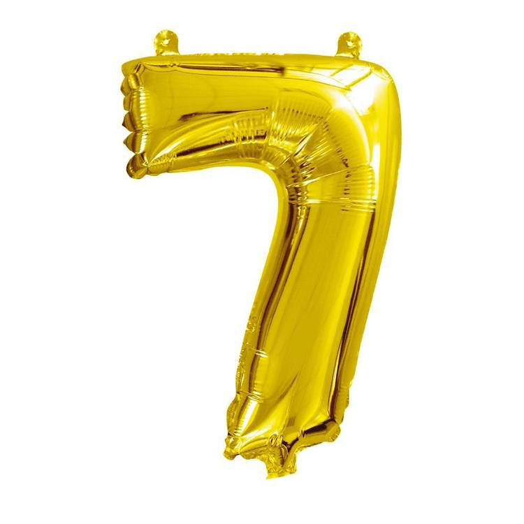 Artwrap Miniloon Number 7 Foil Balloon