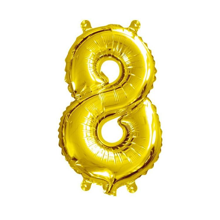 Artwrap Miniloon Number 8 Foil Balloon