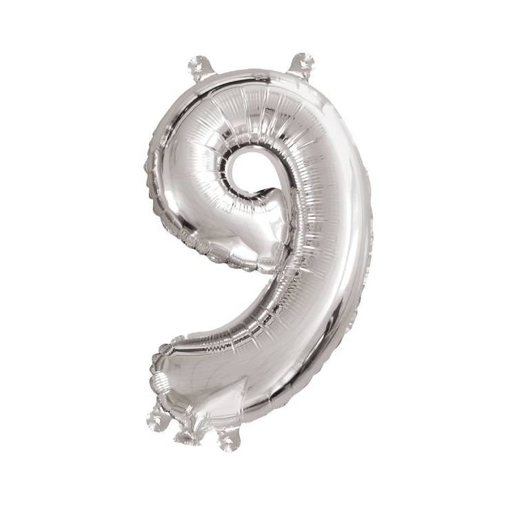 Artwrap Miniloon Number 9 Foil Balloon
