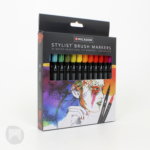 Micador Stylist Brush Markers