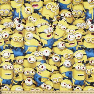 Minions Crowded Uncoated Fabric