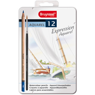 Bruynzeel Expression Aquarel Coloured Pencils 12 Pack