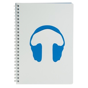 Diecut Notebook With Headphones