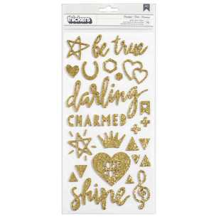 American Crafts Thickers Crate Paper Maggie Holmes Shine Glitter Stickers