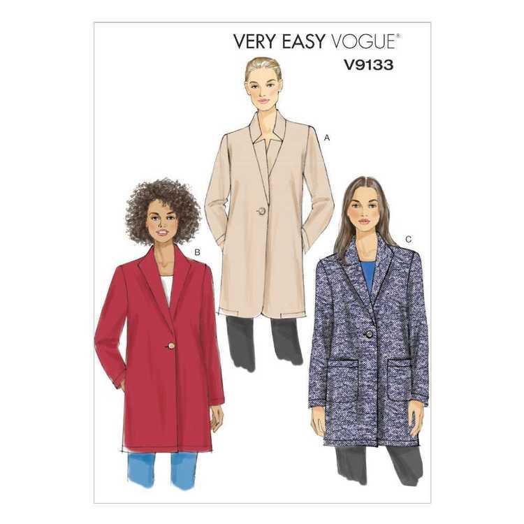 Vogue Pattern V9133 Misses' Jacket