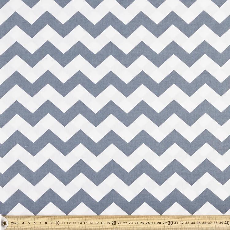Spots & Stripes Chevron Cotton Poplin