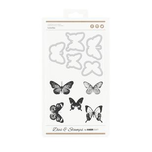 Kaisercraft Decorative Die & Stamp Butterflies