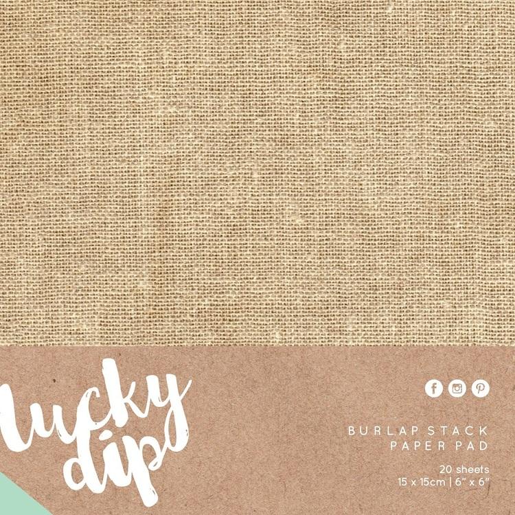 Kaisercraft Lucky Dip Burlap Pad 20 Sheets