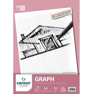 Canson Academy 2 mm Blue Grid A4 Graph Pad 25 Page