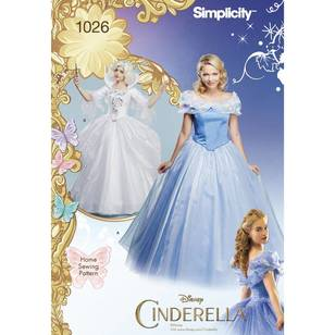 Simplicity Pattern 1026 Disney Cinderella & Fairy Godmother Misses Costume