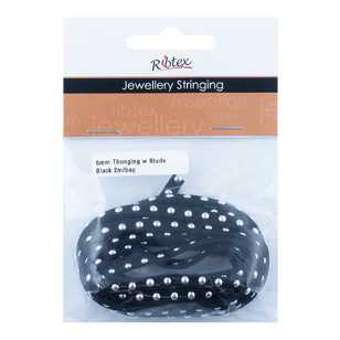 Ribtex Jewellery Stringing Thonging with Round Studs