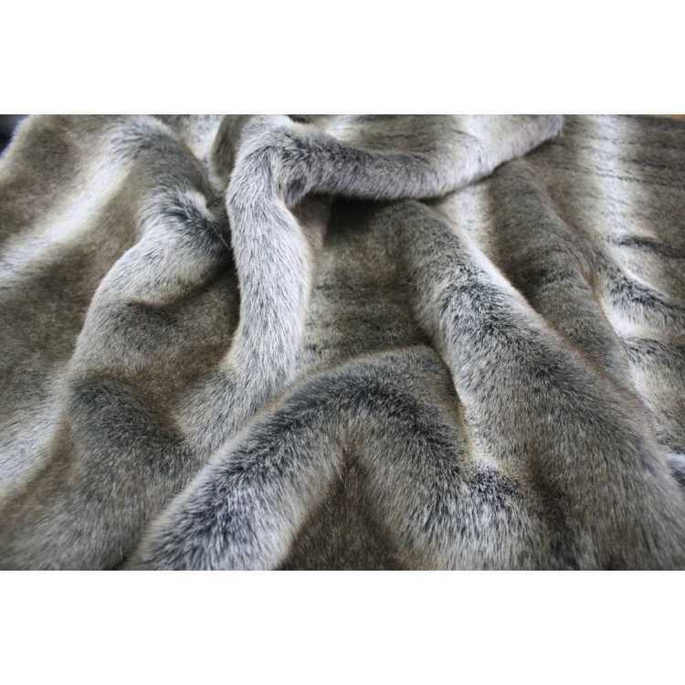 Striped Elk J660 Faux Fur Fabric Multicoloured 148 cm