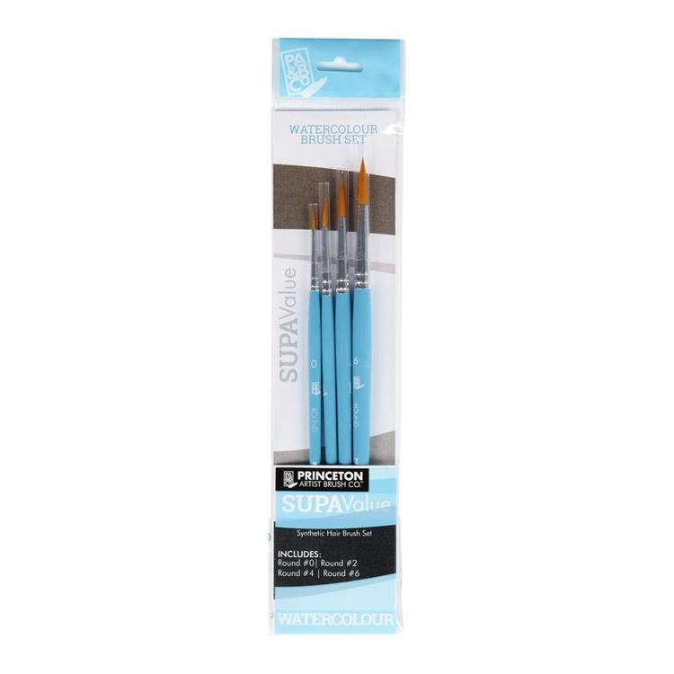Princeton Supavalue 9460 Watercolour Brush Pack Blue