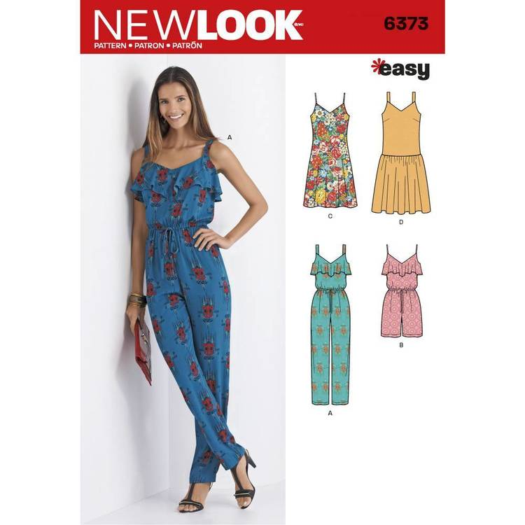 New Look Pattern 6373 Misses' Jumpsuit