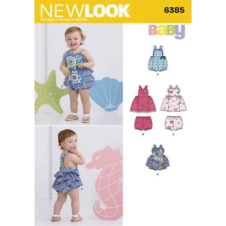 New Look Pattern 6385 Babies' Dress Romper & Panties