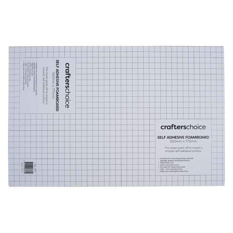 Crafters Choice Self Adhesive Foam Core Sheet White A1