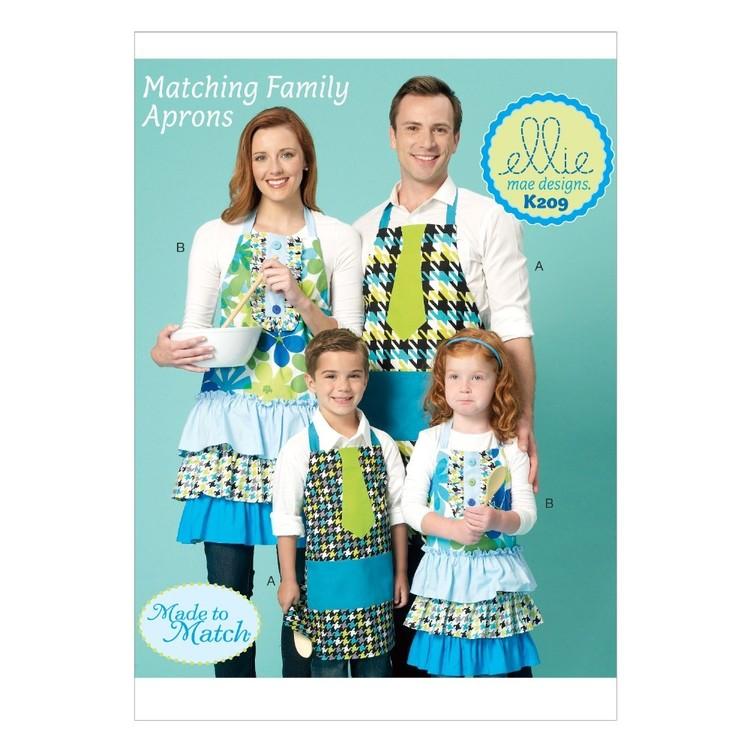 Kwik Sew Pattern K0209 Adults' & Kids' Aprons