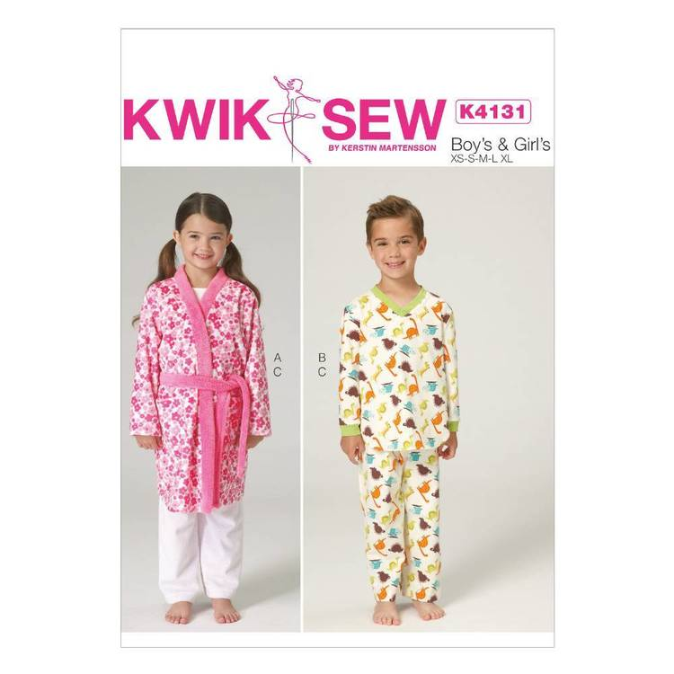 Kwik Sew Pattern K4131 Boys' & Girls' Robe