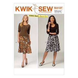 Kwik Sew Pattern K4137 Misses' Flared & A-Line Skirts