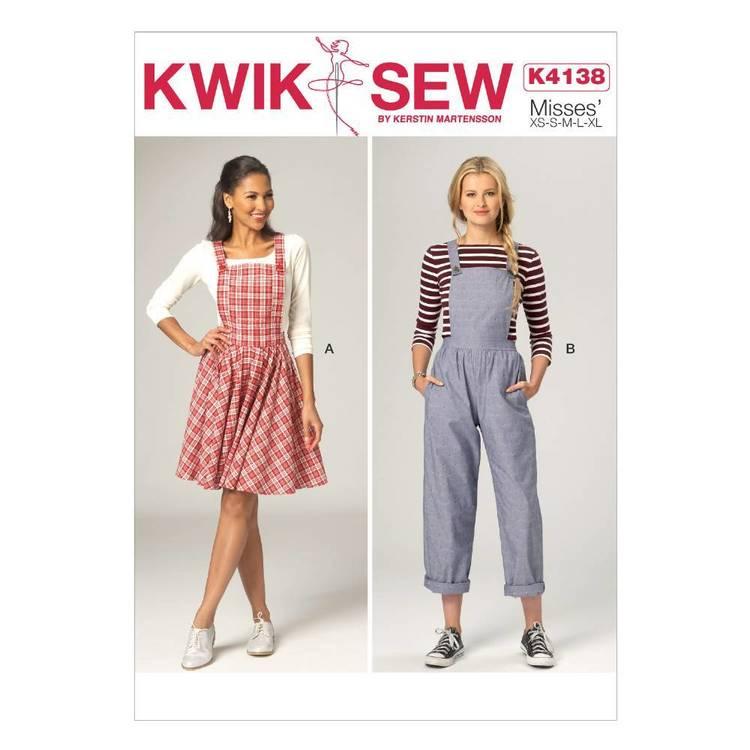 Kwik Sew Pattern K4138 Misses' Overall Jumper & Jumpsuit