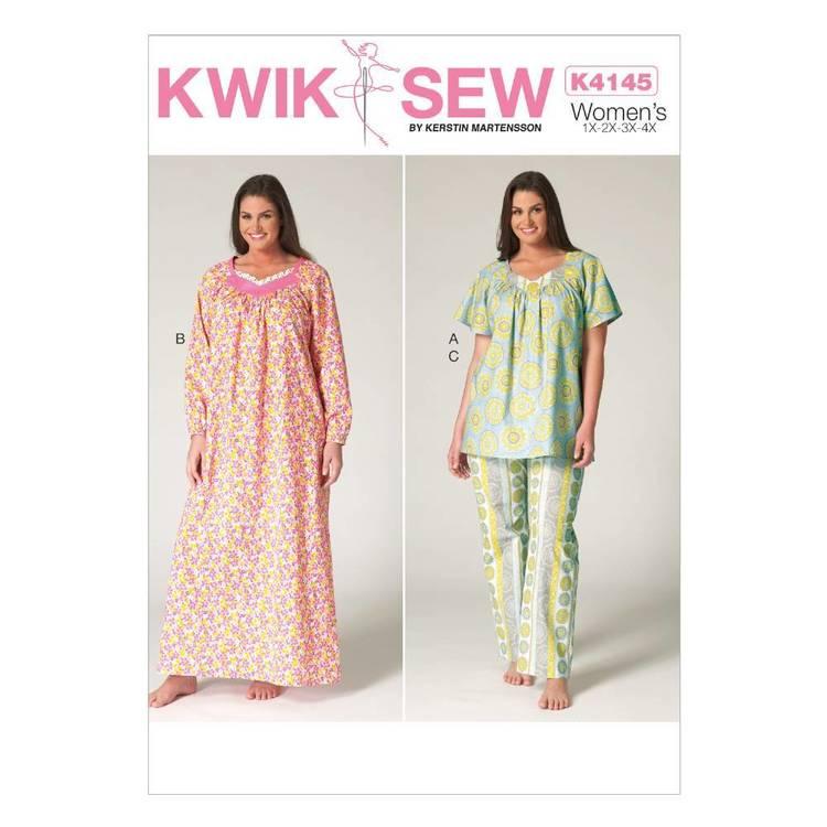 Kwik Sew Pattern K4145 Women's Diamond-Neck Top