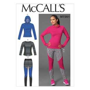 McCall's Pattern M7261 Misses' Activewear Tops and Leggings